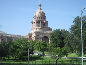 I posted this on Facebook yesterday: Tuesday afternoon, we were on the bus going downtown and I took this pic of the Texas state capitol not knowing that a badass Texas state senator called Wendy Davis was inside at that very moment, doing badass things. (Like her or not, she is a badass.) This is what history in the making looks like from the outside.