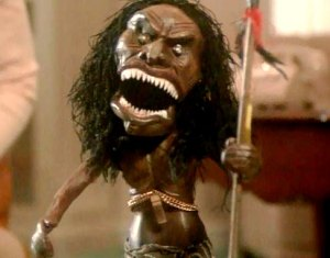 "Zuni Fetish Warrior Doll in Trilogy of Terror's ""Amelia"""