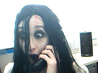 Halloween 2008. I went to work dressed as Samara from The Ring.