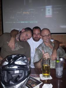 Chris, Eddie and Callaghan at Fast Eddie's in Round Rock