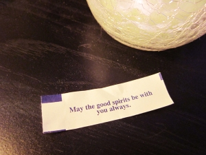 Fortune from the Jedi cookie.