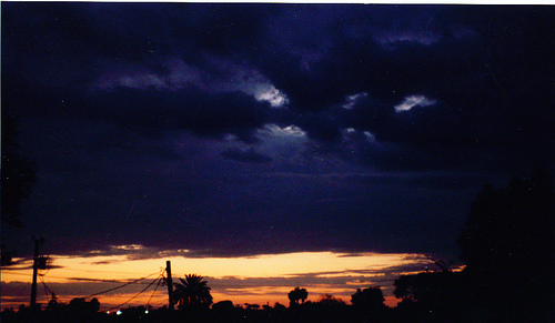 I can smell the creosote in the air just looking at this monsoon season sunset!