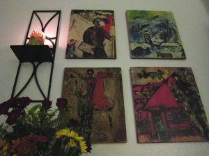 ...with the old Chagall prints