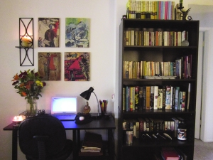 My desk...