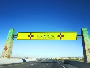Entering New Mexico!