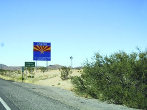 Entering Arizona, at last!