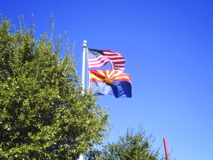 Arizona - the prettiest flag in the States, in my opinion!