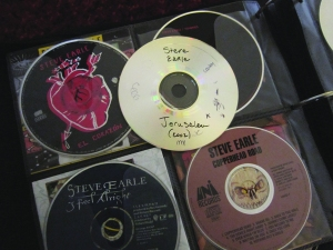 My Steve Earle CDs: El Corazon, Townes, I Feel Alright, Copperhead Road and Jerusalem.
