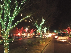 Holiday lights on Mill Ave