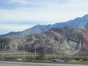 Passing a southern California wind farm.