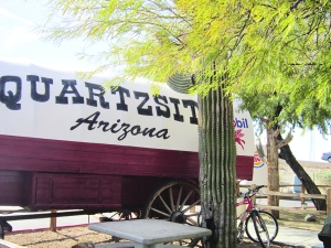 Quartzsite, our last stop out of Arizona