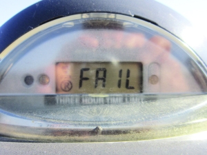 This parking meter is FAIL.