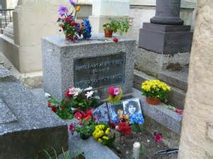 Stock photo of Jim Morrison's grave. Not mine. WOE IS ME.