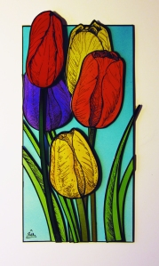 """Tulips for Mom"" original by Philippe Augy (Callaghan)"