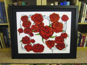 "Immortal red roses! ""Valentine's Day Roses"" original by Philippe Augy (Callaghan)"