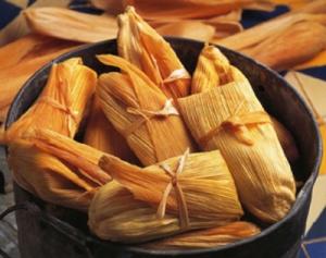 Fresh homemade tamales... mmm.