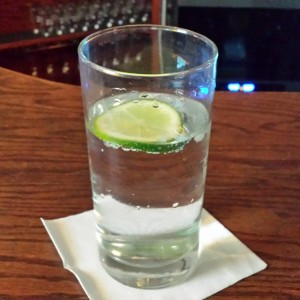 Club soda with lime. I crave it!