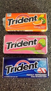 A typical Trident rotation at our house.