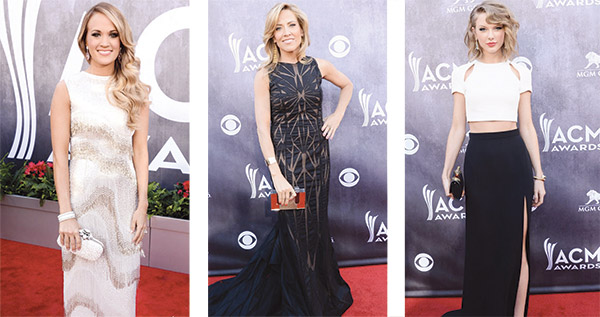 Carrie Underwood, Sheryl Crow and Taylor Swift at the 2014 ACM Awards