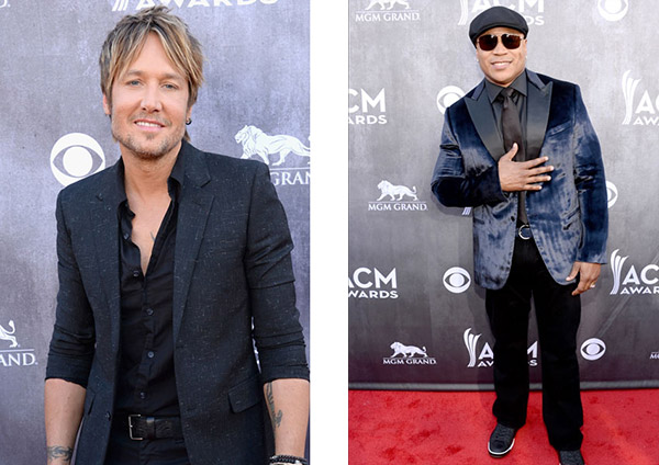 Keith Urban and LL Cool J at the 2014 ACM Awards
