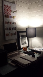 My new office corner in the bedroom!