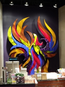 An artistic take on the logo of the City of Phoenix (at Sky Harbor Airport)