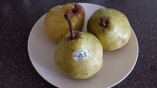 Organic pears from Argentina are everywhere right now, and they're so incredibly good.