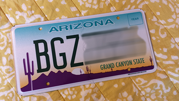 New license plate for the new girl.