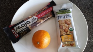 My new favorite energy and protein bars... and a weird fruit that seems to be a mutant kumquat.