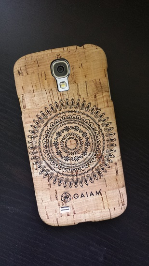"Cork phone case by GAIAM. The design is called ""Marrakesh."""