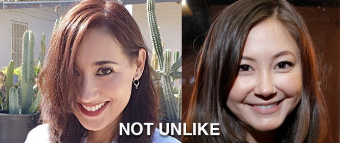 Me on the left. Kimiko Glenn from Orange is the New Black on the right. Two Arizonan Asian-looking chicks on the internet = NOT UNLIKE.