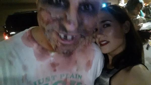 Remember when I was escorted to Drag Bingo by a jovial French zombie?