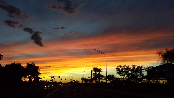 Arizona sunsets are always beautiful, but they're especially dramatic in October....