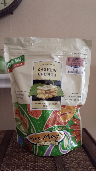Mrs. May's All Natural Cashew Crunch slow dry-roasted snack (original flavor)