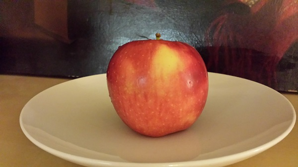Organic honeycrisp apple! Apple perfection.