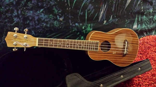 The ukulele that came home with us.
