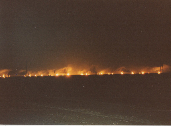 After the ambush, we continued on without stopping to sleep. This is what Kuwait looked like as we approached it.