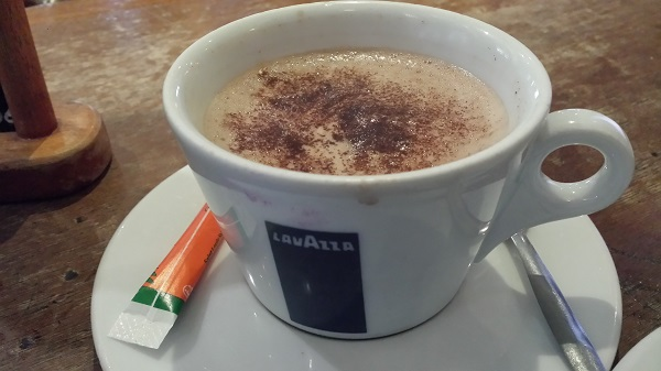 Hot chocolate at café la Virgule in Montmartre.