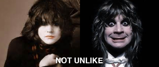 Ally Sheedy in The Breakfast Club on the left. Ozzy Osbourne on the right. NOT UNLIKE.