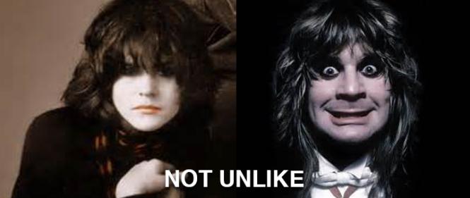 Ally Sheedy in The Breakfast Club on the left. Ozzy Osbourne on the right. NOT UNLIKE.