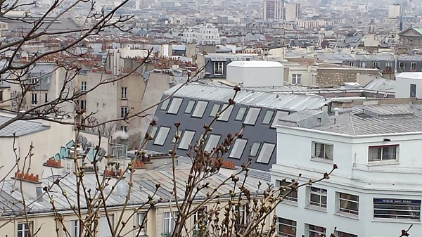 View of Paris from the hill of Montmartre.