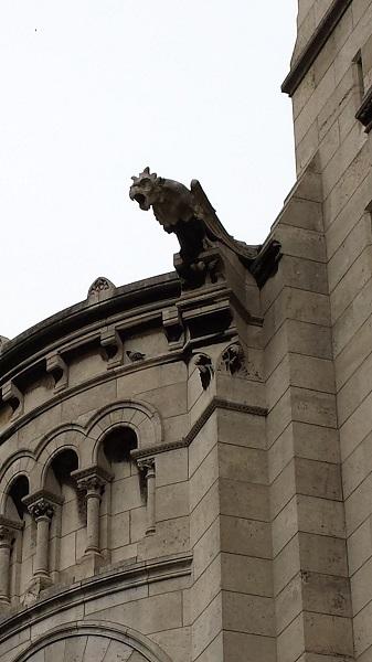 Gargoyle on le Sacré-Coeur.