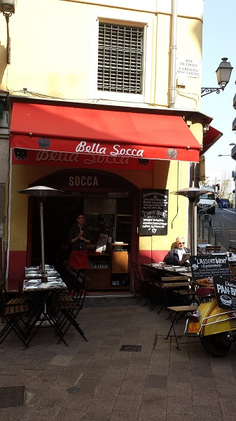 Socca - a traditional food in Nice.