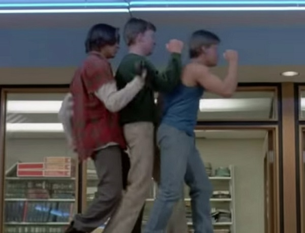The Breakfast Club - dancing in the library
