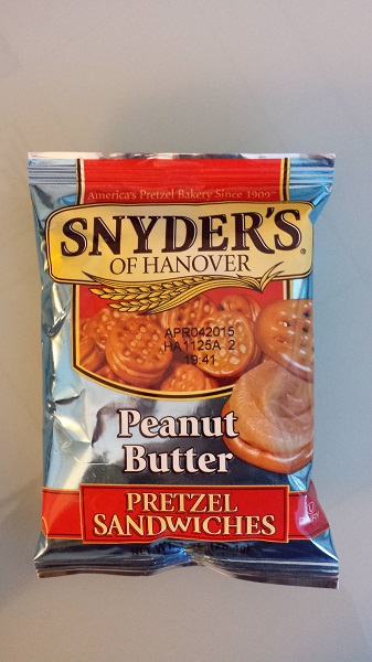 Snyder's of Hanover peanut butter pretzel sandwiches.