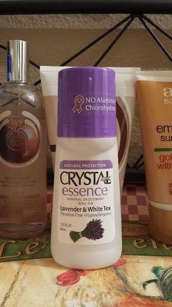 Crystal Essence Mineral Deodorant Roll-On in Lavender and White Tea