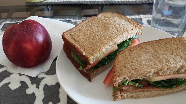 I usually default to sandwiches for lunch, which is fine, because I love them. I usually have fruit, too.