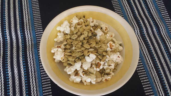 SkinnyPop Popcorn combined with Go Raw 100% Organic Sprouted Pumpkin Seeds!