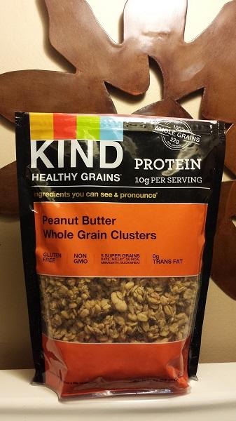 KIND Healthy Grains Peanut Butter Whole Grain Clusters.