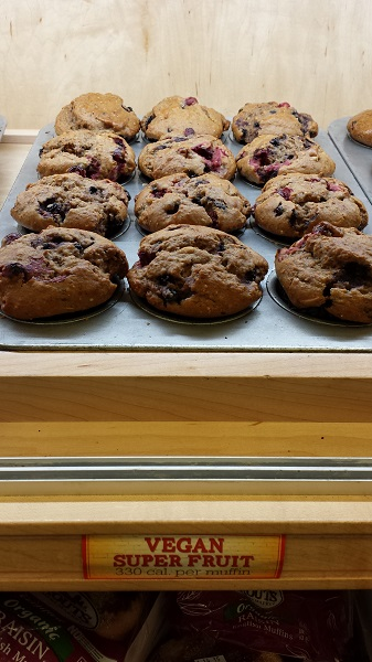 Vegan super fruit muffins at Sprouts